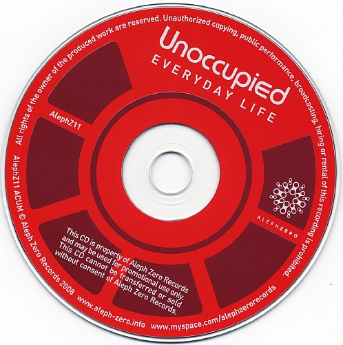 Unoccupied - Everyday Life: CD
