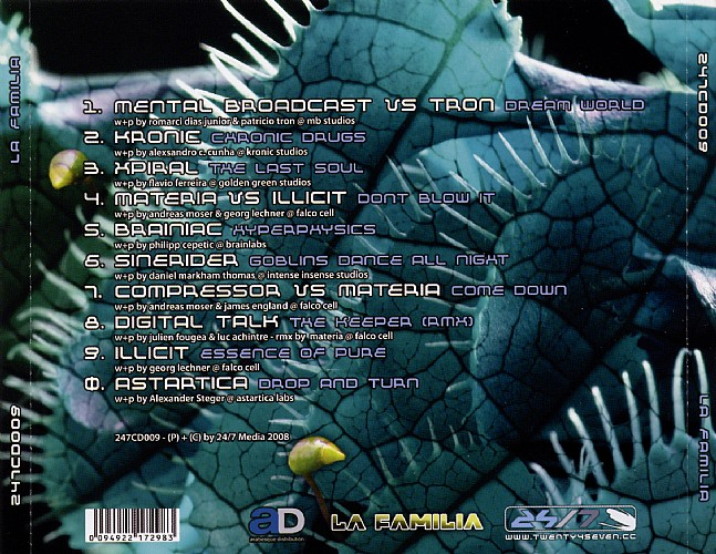 Various Artists - La Familia - Selected By DJ Astralex: Back